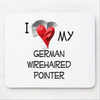 Amo mi indicador Wirehaired alemán Alfombrillas De Ratones