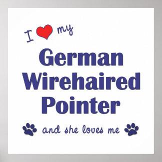 Amo mi indicador Wirehaired alemán el perro femen Impresiones