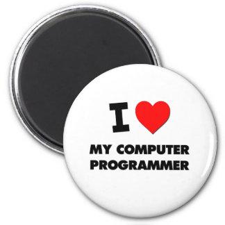 Amo mi informático imán redondo 5 cm