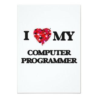 """Amo mi informático invitación 5"""" x 7"""""""