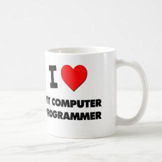 Amo mi informático tazas de café