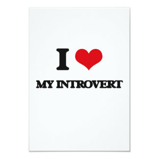 Amo mi introvertido invitación 8,9 x 12,7 cm