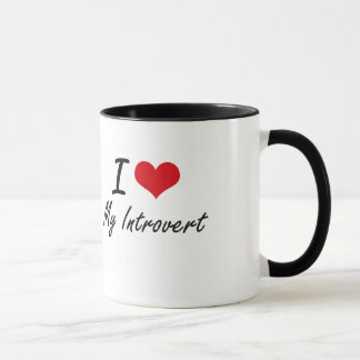 Amo mi introvertido taza