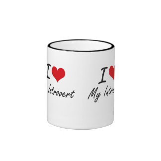 Amo mi introvertido taza de dos colores