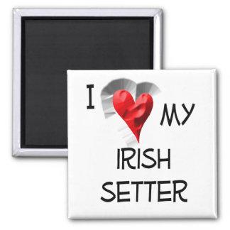 Amo mi Irish Setter Imán Cuadrado