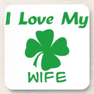 Amo mi irlandés posavasos de bebida