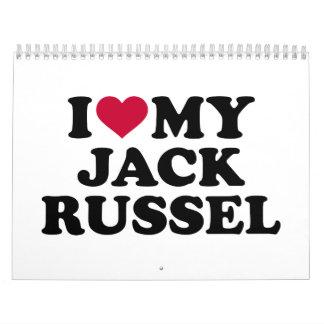 Amo mi Jack Russel Calendario De Pared