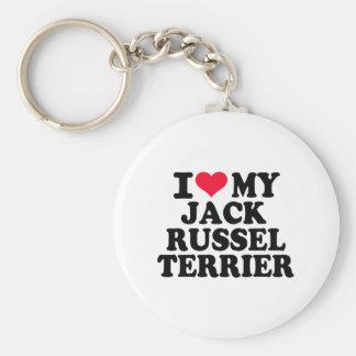 Amo mi Jack Russel Terrier Llaveros Personalizados