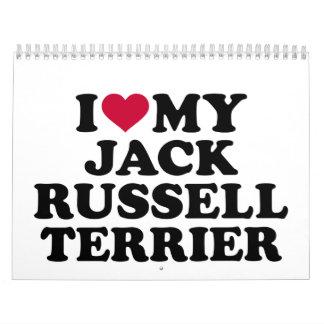 Amo mi Jack Russell Terrier Calendarios De Pared