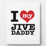 Amo mi Jive al papá Placas Con Fotos