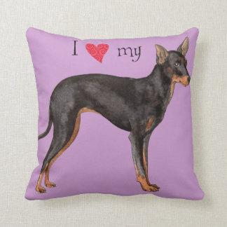 Amo mi juguete Manchester Terrier Almohadas