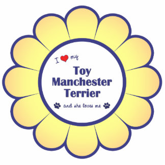 Amo mi juguete Manchester Terrier (el perro femeni Adorno Fotoescultura