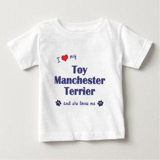 Amo mi juguete Manchester Terrier (el perro Playera