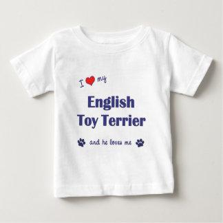 Amo mi juguete Terrier inglés (el perro masculino) Playeras