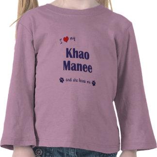 Amo mi Khao Manee (el gato femenino) Camisetas