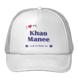 Amo mi Khao Manee (el gato masculino) Gorras De Camionero