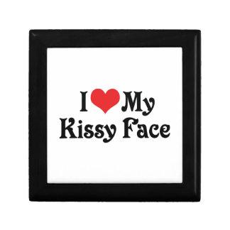Amo mi Kissy hago frente Joyero Cuadrado Pequeño