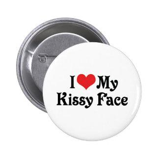 Amo mi Kissy hago frente Pin Redondo De 2 Pulgadas
