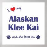 Amo mi Klee de Alaska Kai (el perro femenino) Posters