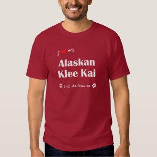 Amo mi Klee de Alaska Kai (el perro femenino) Playeras
