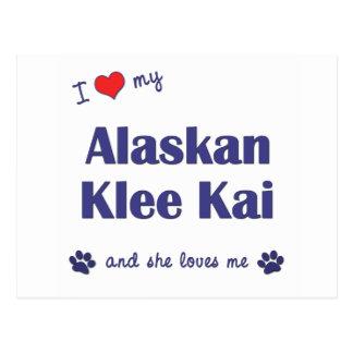 Amo mi Klee de Alaska Kai (el perro femenino) Postales