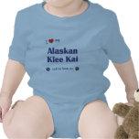 Amo mi Klee de Alaska Kai (el perro masculino) Traje De Bebé