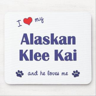 Amo mi Klee de Alaska Kai (el perro masculino) Tapetes De Ratones