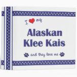 Amo mi Klee de Alaska Kais (los perros múltiples)
