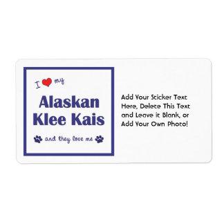 Amo mi Klee de Alaska Kais (los perros múltiples) Etiquetas De Envío