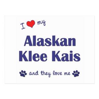 Amo mi Klee de Alaska Kais (los perros múltiples) Postales