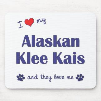 Amo mi Klee de Alaska Kais (los perros múltiples) Tapetes De Raton