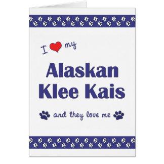 Amo mi Klee de Alaska Kais (los perros múltiples) Tarjeta Pequeña