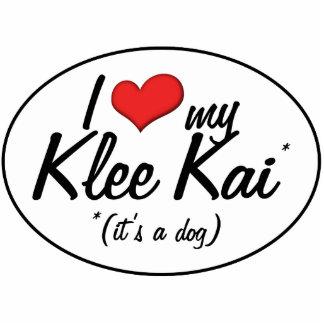 Amo mi Klee Kai (es un perro) Esculturas Fotograficas