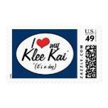 Amo mi Klee Kai (es un perro) Franqueo