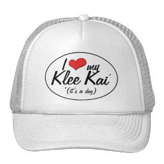 Amo mi Klee Kai (es un perro) Gorras De Camionero