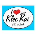 Amo mi Klee Kai (es un perro) Postal