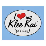 Amo mi Klee Kai (es un perro) Posters