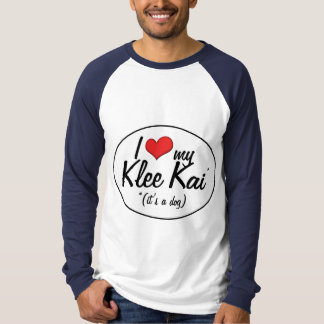 Amo mi Klee Kai (es un perro) Remeras