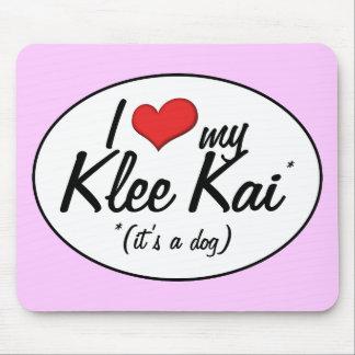 Amo mi Klee Kai (es un perro) Alfombrilla De Raton