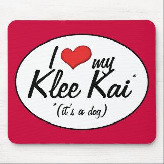 Amo mi Klee Kai (es un perro) Tapetes De Ratón