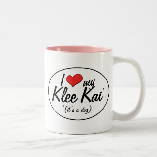 Amo mi Klee Kai (es un perro) Taza De Café