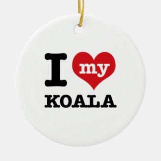 Amo mi koala ornamentos de navidad