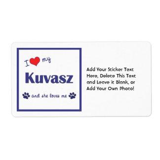 Amo mi Kuvasz (el perro femenino) Etiqueta De Envío