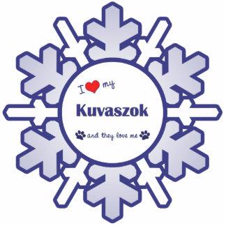 Amo mi Kuvaszok (los perros múltiples) Adorno Fotoescultura