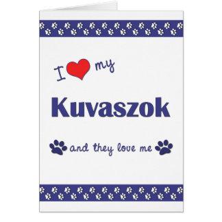 Amo mi Kuvaszok (los perros múltiples) Tarjeta Pequeña