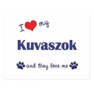 Amo mi Kuvaszok (los perros múltiples) Postales