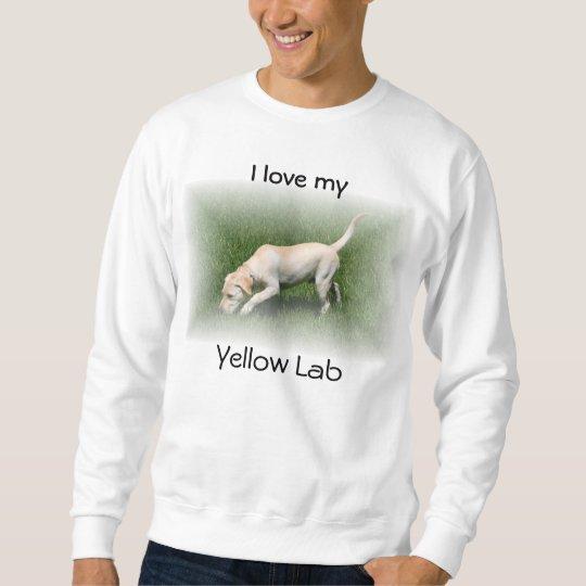Amo mi laboratorio amarillo sudadera