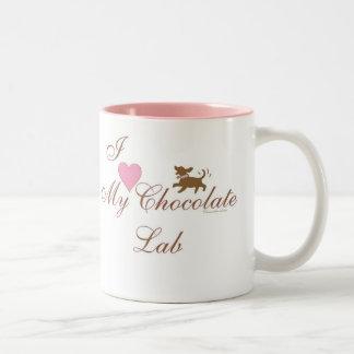 ¡Amo mi laboratorio del chocolate Tazas