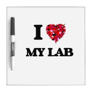 Amo mi laboratorio tableros blancos