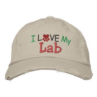 ¡Amo MI laboratorio! por SRF Gorra De Beisbol Bordada